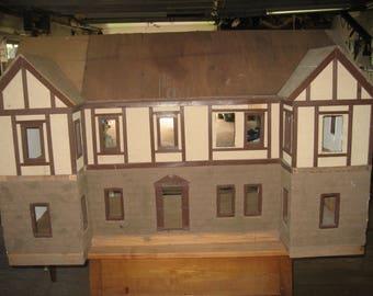 Tudor dollhouse - vintage handmade - extra large. LOCAL PICKUP ONLY