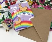 mum you are llamazing - Katie Abey - mum llama birthday card - Mother's Day card - mom - amazing mummy