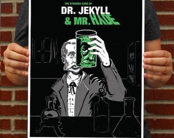 Dr. Jekyll & Mr. Hyde Poster // Jekyll and Hyde Art Print