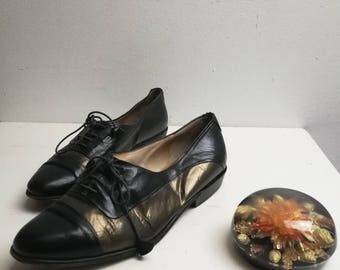 Vintage sheep's leather brogues