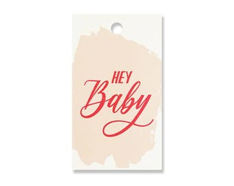 Hey Baby Gift Tags - Pack of 10