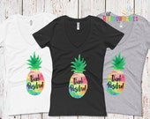 Think Positive Pineapple Shirt, IVF Shirt, IVF Gift, Infertility Gift, ttc, ivf Pineapple Gifts, Fertility Gift, pcos, pupo, Pregnancy