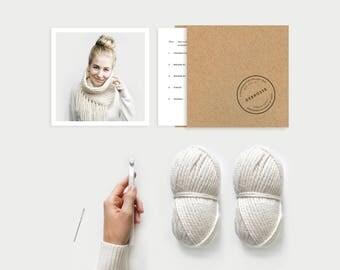 DIY KIT ⨯ Tassel Fringe Cowl ⨯ The L'acul ⨯ 2 colors available