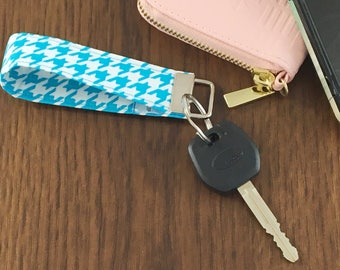 Houndstooth Key Fob // Key Fob Wristlet // Gifts for Her // Bachelorette Gift // Gifts for Him