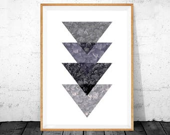 geometric art, geometric print, geometric printable, geometric wall art, printable art, graphic prints, geometric poster, gray and purple