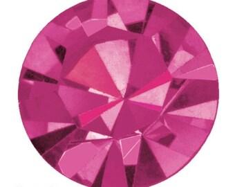 fuchsia flatback crystals/rhinestones - one gross