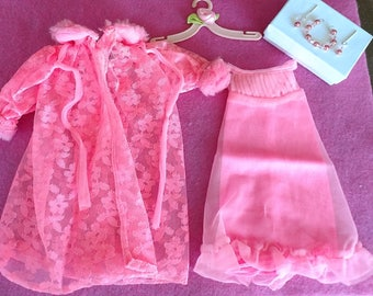 Vintage Barbie clothes LOVELY SLEEP IN'S Nighty Very Hard To find!  Excellent condition!
