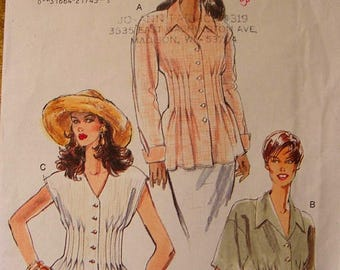 41% OFF Vogue Sewing Pattern 9271 Misses' Loose Fitting Pleated Blouse Size 6 8 10 Uncut