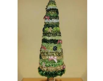 30cm made to order Ribbon Ruffle Christmas Tree