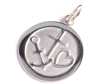 Pendants heart anchor cross made of 925 sterling silver