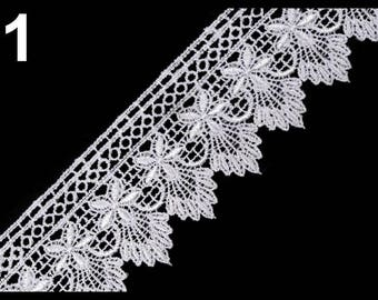Guipure lace white 55 mm