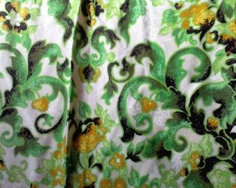2 pair pinch pleated Drapes 46x78, 1970's Window Drapes