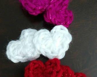 Hair clip - Valentine's Day - Heart - Crochet - Barrette - Hair Accessories - Easter Hair Accessories - Easter Bunny Barrette - Easter Bunny