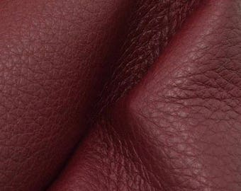 "NZ Deer Sale Romantic Ruby Red Leather New Zealand Deer Hide 8""x 10"" Pre-cut 3-4 ounces-22 DE-66144 (Sec. 4,Shelf 2,B)"