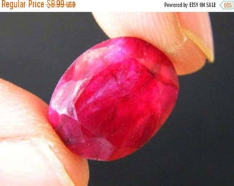 80% SALE Faceted Ruby Pink Beryl Cabochon, (15x12x6MM) Oval Shape Cabochon, 12Ct Pink Beryl Stone, Jewelry Making Cabochon S-6595