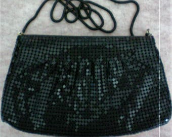 Black Metal Mesh Shoulder or Clutch Evening Bag - 5478