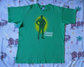 Vintage 90's Green Giant T shirt, size XL 1996 food Mascot promo