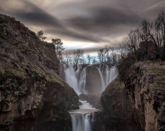 Oregon Photography, Landscape Photography, White River Falls, Waterfall Photography, Wall Decor, Fine Art, Pacific Northwest, Sunset,Sunrise