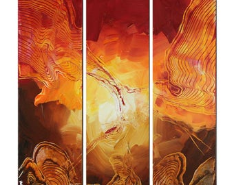 """Abstract Acrylic-painting, Original Art by JF The Artmakers : """"FEUERVOGEL III"""", Gallery of modern & contemporary  Art"""