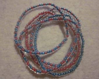 Pink & Teal Seed Bead Bracelet Bundle