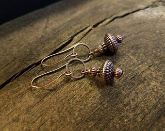 Copper Earrings, Dangle Earrings, Boho Earrings