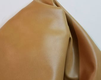 """Cognac Tan Brown """"Haze"""" Faux Vegan leather Pleather sold by the yard 36 inches x 52 inches wide Synthetic for one yard- 1 to 5 yards"""