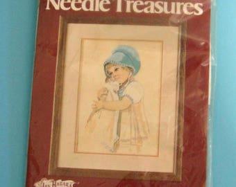 """SALE Stitchery Needle Treasures Betsy  Jan Hagara  Vintage Complete Kit 10"""" X 14"""""""