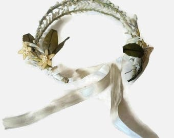 On Sale Vintage 1920s Wax Orange Blossom Wedding Headband Tiara