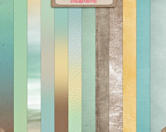 Digital Scrapbooking, Ombre and Solids Paper Pack: You're My Lil' Boy