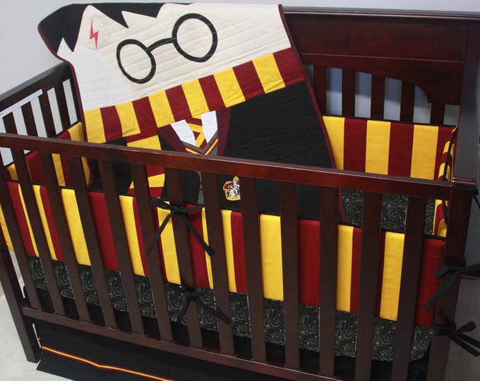 Wizard Boy baby bedding--Custom Crib Bedding-MTO