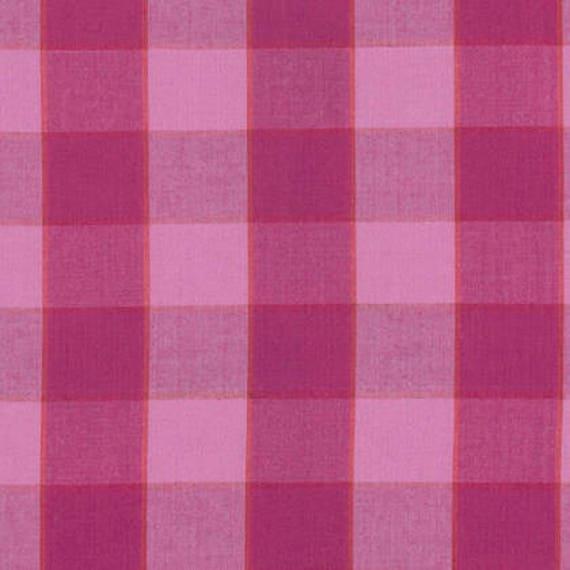 CHECKERBOARD Plaid Ikat LIPSTICK Pink ARTISAN Kaffe Fassett Sold in 1/2 yd increments