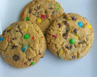 Jumbo chocolate chip MnM cookies