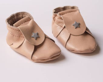 Baby shoes leather, 1-3 months baby girl, baby girl soft shoes Baby Slippers, slipper shoes leather nude