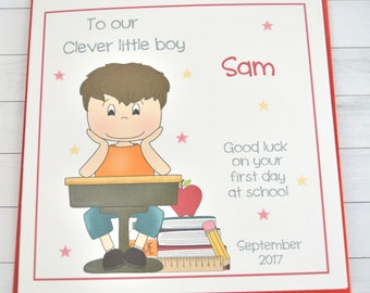 Personalised Boy First day at School Card