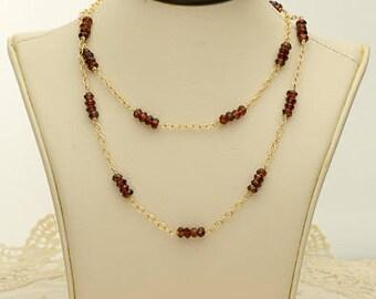 Red Garnet Necklace 32.5ct (B92)