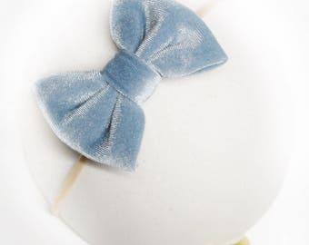 Dream Blue Velvet Bow