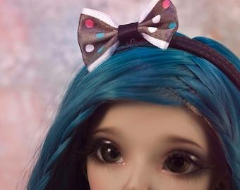Casual Cute Black Polka Dots Headband for MSD/Slim MSD Minifee
