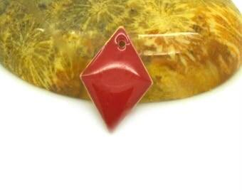 10 Red 16x10mm diamond sequins
