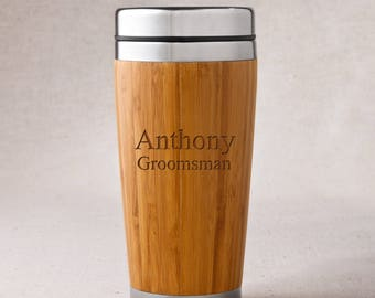 Personalized Bamboo Tumbler - Personalized Travel Tumbler - Bamboo Tumbler - RO103