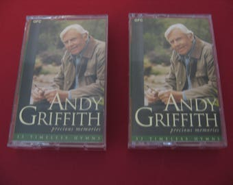 Andy Griffith - Precious Memories 1 & 2 - Circa 1995 - Two Cassette Tapes (Cassette)