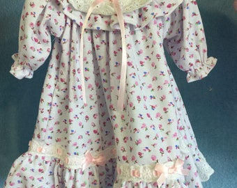 Doll Nightgown Flowered Doll Nightgown Fits most 18 inch dolls