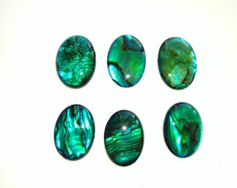 Genuine natural green/blue Paua shell cabochons