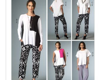 Vogue V9067 Misses' Seam-Detail Tops and Pants