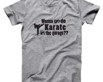 Karate In Garage Step Brothers Movie Funny Catalina Wine Mixer Boats And Hoes Basic Men's T-Shirt DT1223