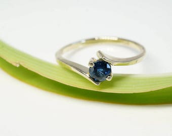 Sapphire Engagement Ring- 1/2 carat Sapphire solitaire ring- Solitaire ring-Yellow Gold Ring-Women Jewelry-Sapphire promise ring -Sapphire
