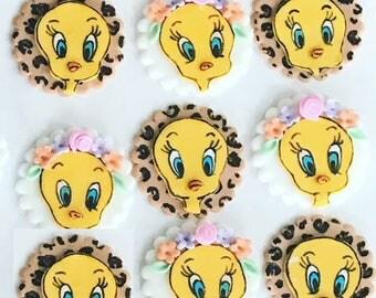 Tweety Bird Cupcake Toppers