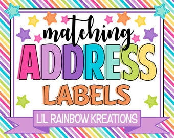 ADD ON: Address Labels To Match You Theme