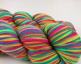 "Smooshy Sparkle Sock hand dyed yarn - ""Fractal"""