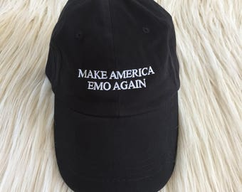 Make America Emo Again Embroidered Hat
