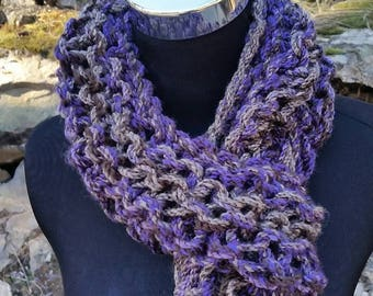 Infinity scarf purple, FREE SHIPPING chunky scarf, purple scarf, cowl, Infinity Cowl, purple Infinity, lavender, snood, pullover long scarf